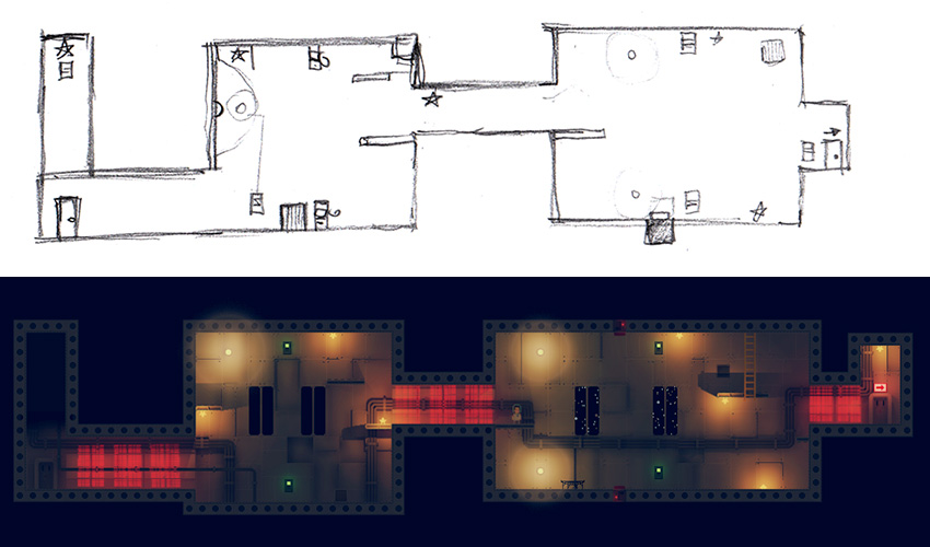 Level design, from sketch to final design